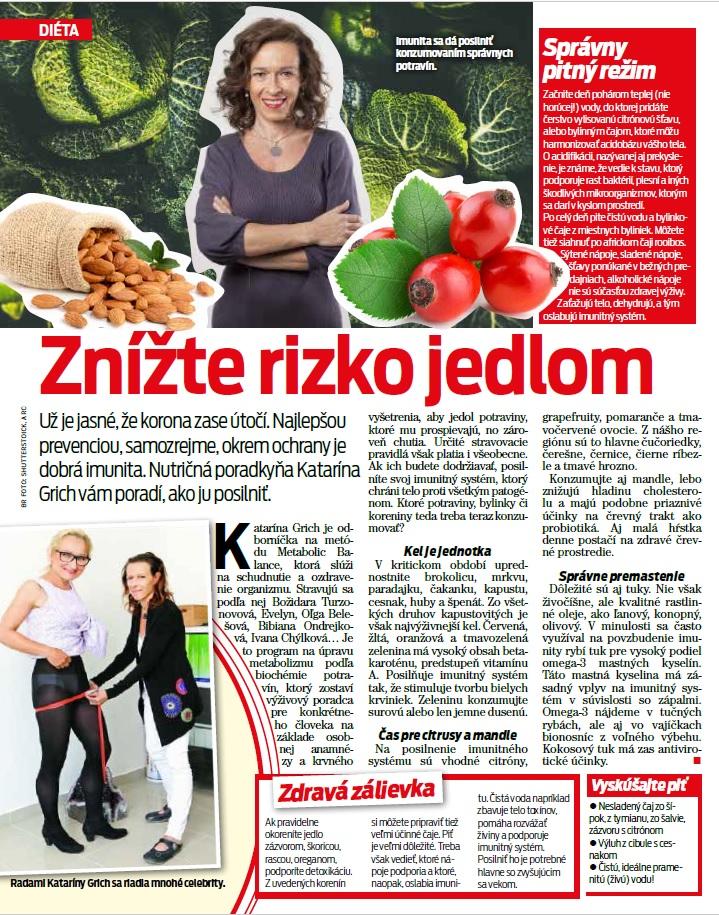 Zníženie riziko nákazy jedlom